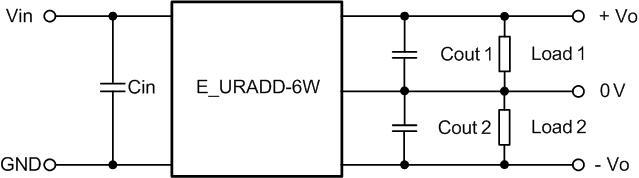 2,隔离电源模块输出正负电压 图5 e_uradd-6w电源典型应用 在电力,工