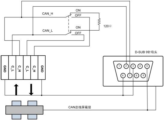 tez-c02连接器的内部电路图